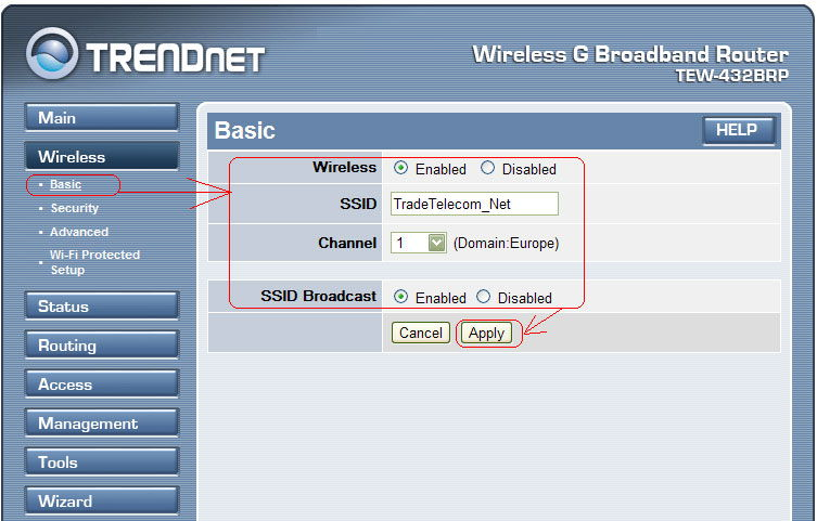 Настройка беспроводной сети Wi-Fi