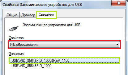 Обзор сведений о USB-флешке