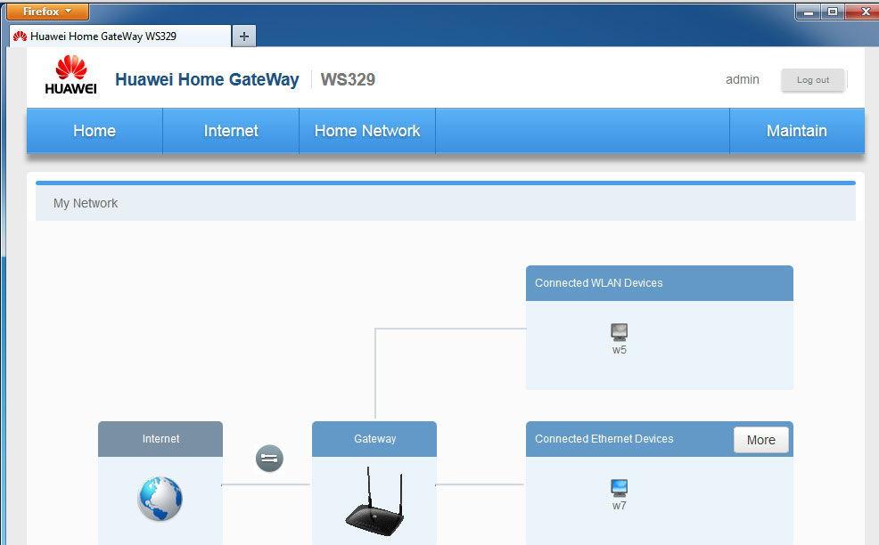 Веб-интерфейс для настройки сети
