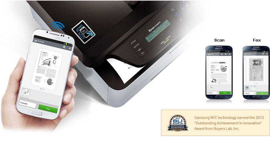 Передача данных с телефона на принтер