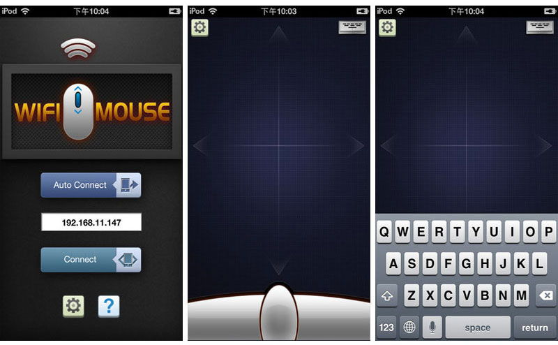 Версия WiFi Mouse Pro для iOS