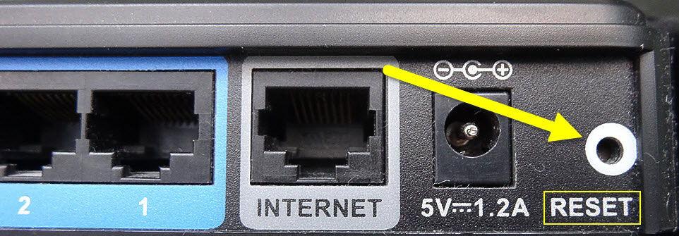 Скрытая кнопка на маршрутизаторе