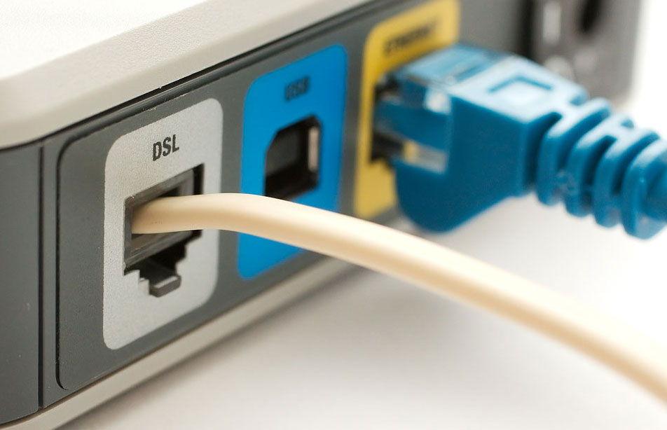 Порт для подключения телефонного ADSL-кабеля