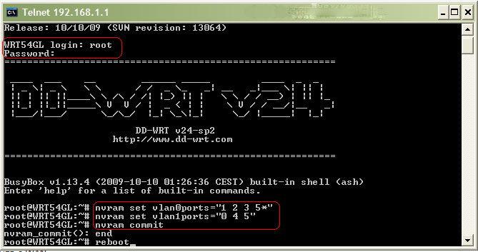 Запуск службы telnet через командную строку