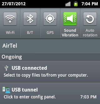 Запуск утилиты USBTunnel