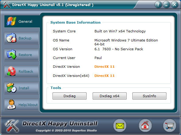 Программа DirectX Happy Uninstall