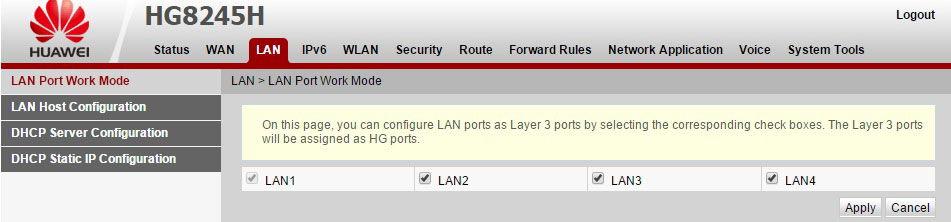 Выбор портов для подключения устройств