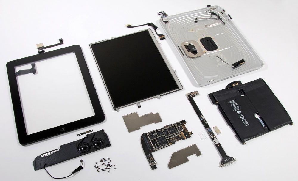 Комплектующие планшета для ремонта