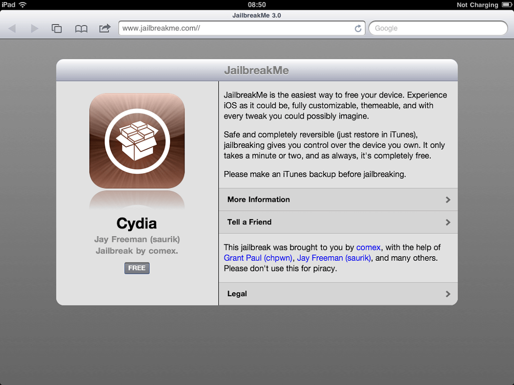 Делаем Jailbreak ipad
