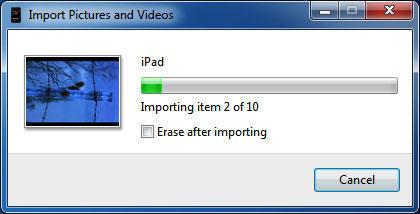 Импорт файлов с iPad на ПК