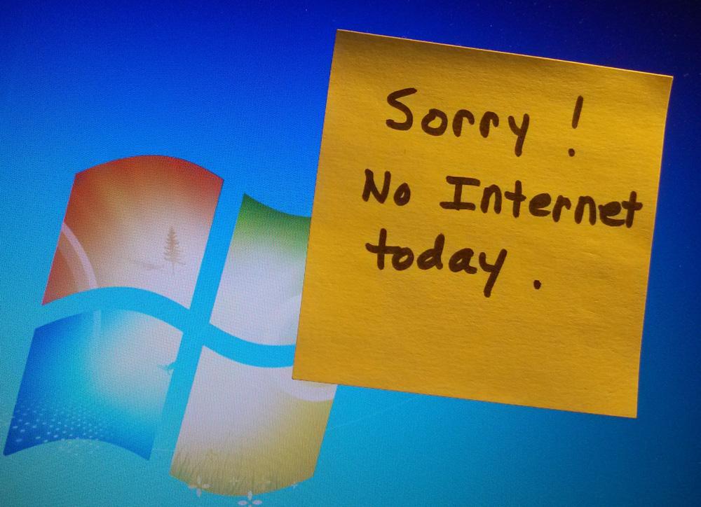 Нет подключения к интернет