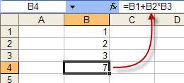 Создание формулы для умножения