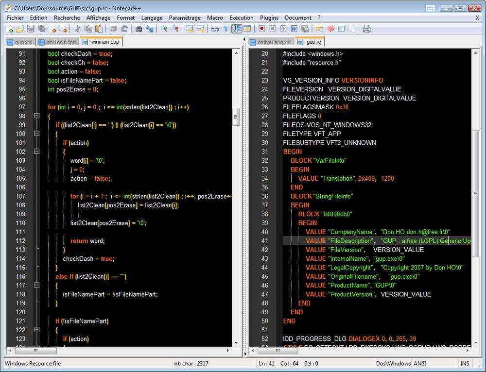 Программа «Notepad++»