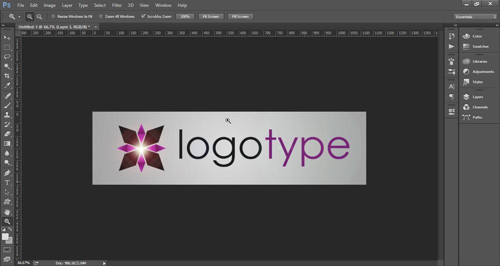 Создание логотипа в редакторе