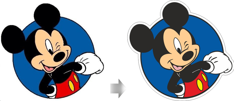 Микки Маус: растр и вектор