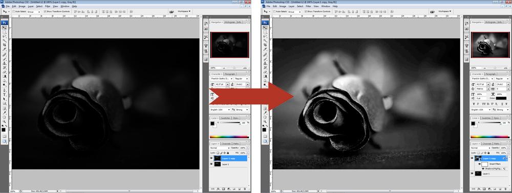 Обработка фото - Свет - Тени
