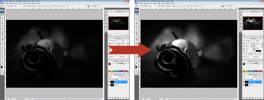 Обработка фото - Уровни