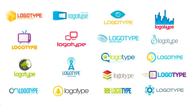 Пример нарисованных лого
