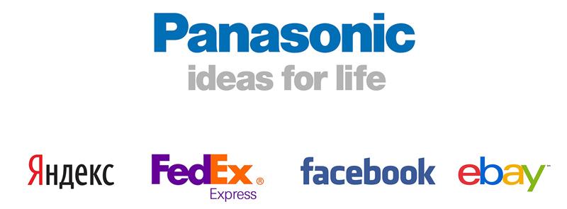 Примеры текстовых логотипов
