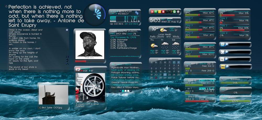 Тема Rainmeter для Windows 7