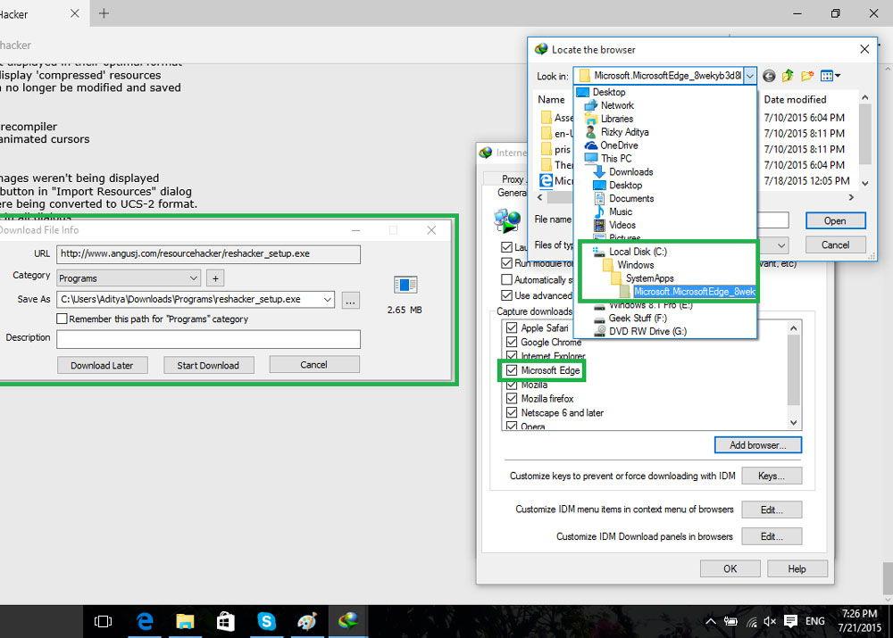 Удаление браузера через папку