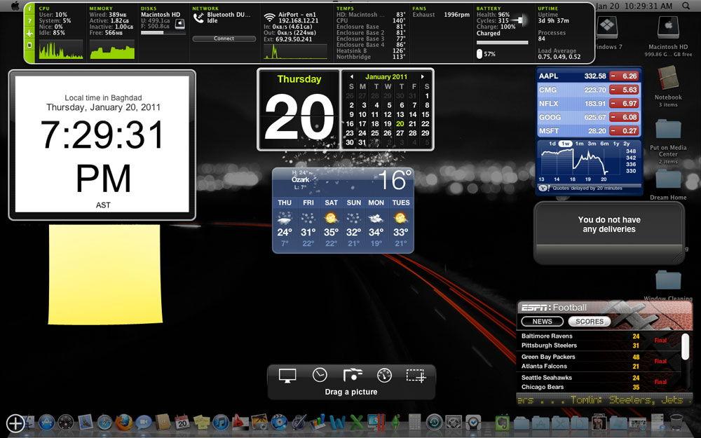 Виджеты на рабочем столе Windows