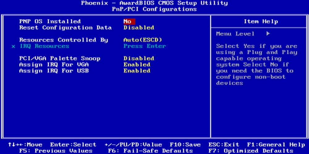 BIOS системы Phoenix