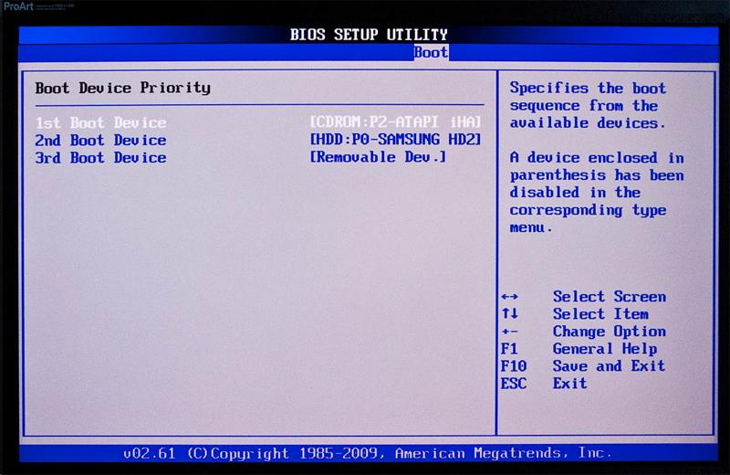 BIOS - Порядок загрузки