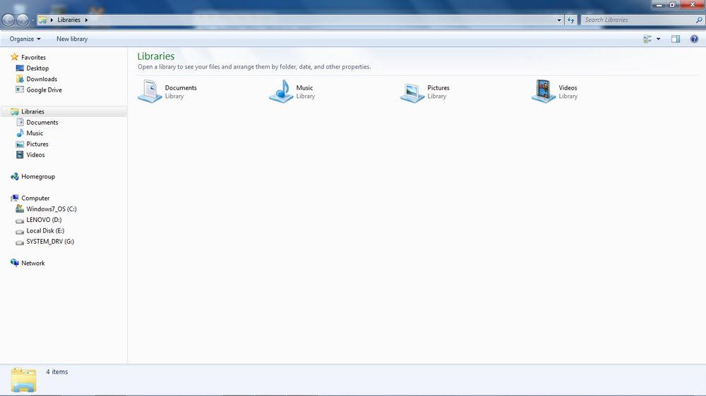 Проводник Windows скриншот