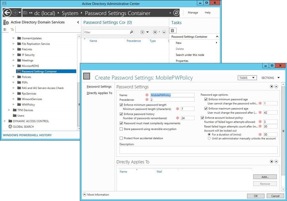 Active Directory на Windows скриншот