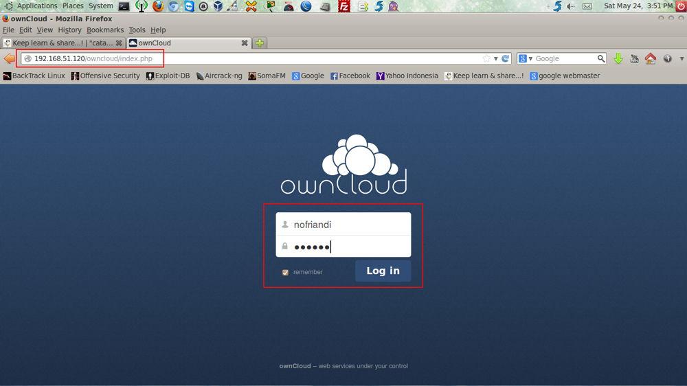 ownCloud скриншот