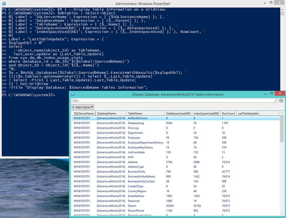 Использование программы PowerShell