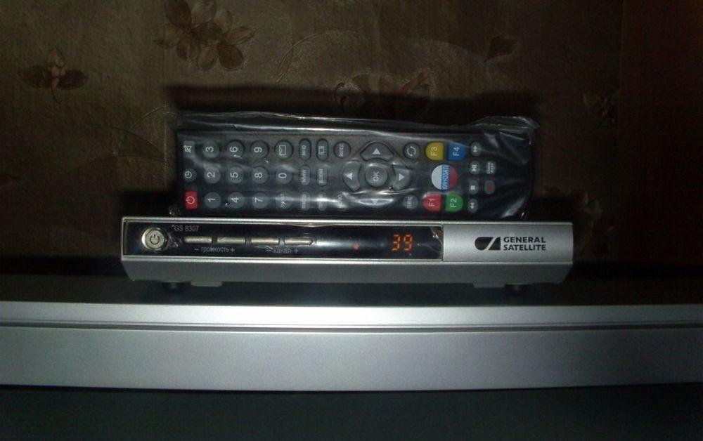 РесиверGS-8307 на телевизоре
