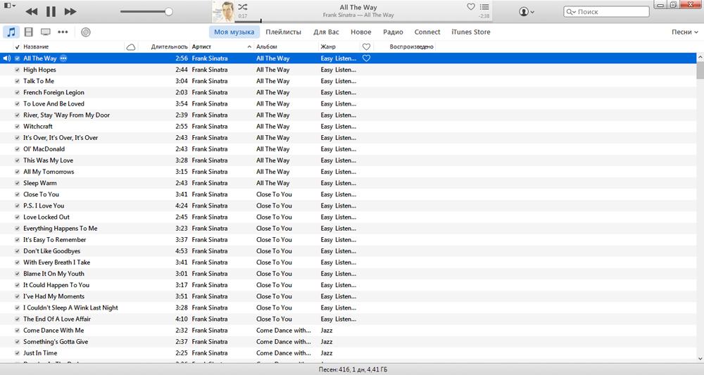 Медиатека музыки iTunes