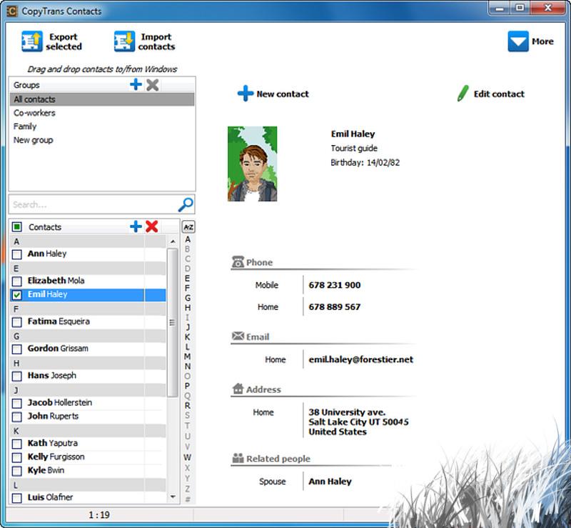 Программа CopyTrans Contacts