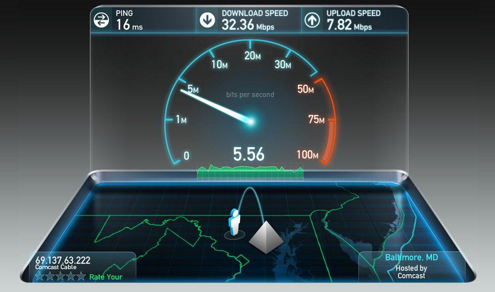 Проверьте скорость интернета
