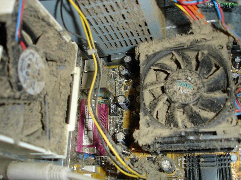 пыль в системном блоке