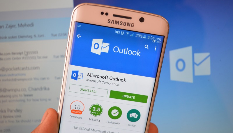Samsung Outlook Андроид
