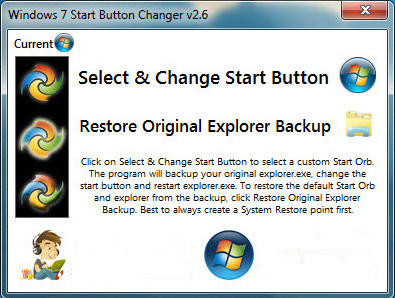 Start Button Changer для Windows 7