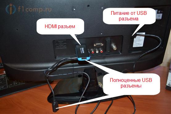 Подключение накопителя к TV