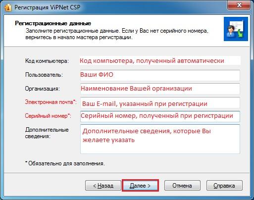 Активация«ViPNet CSP