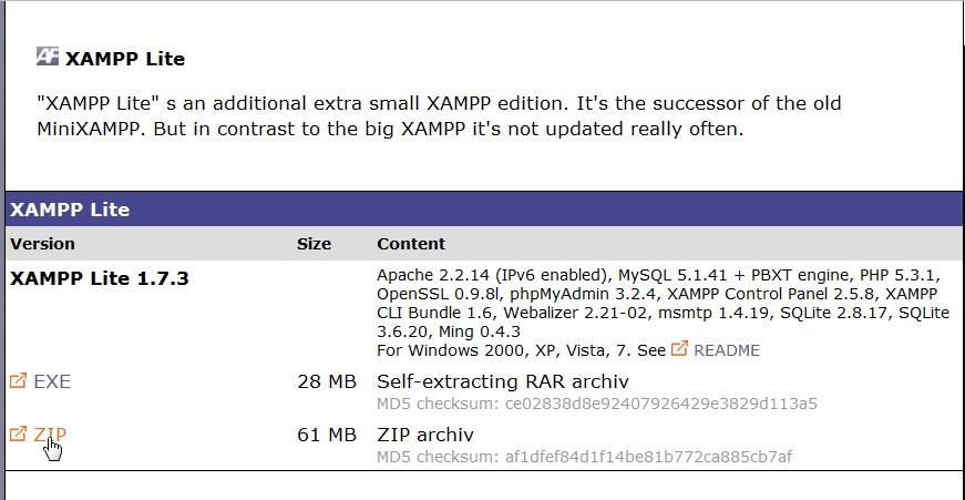XAMPP-Lite