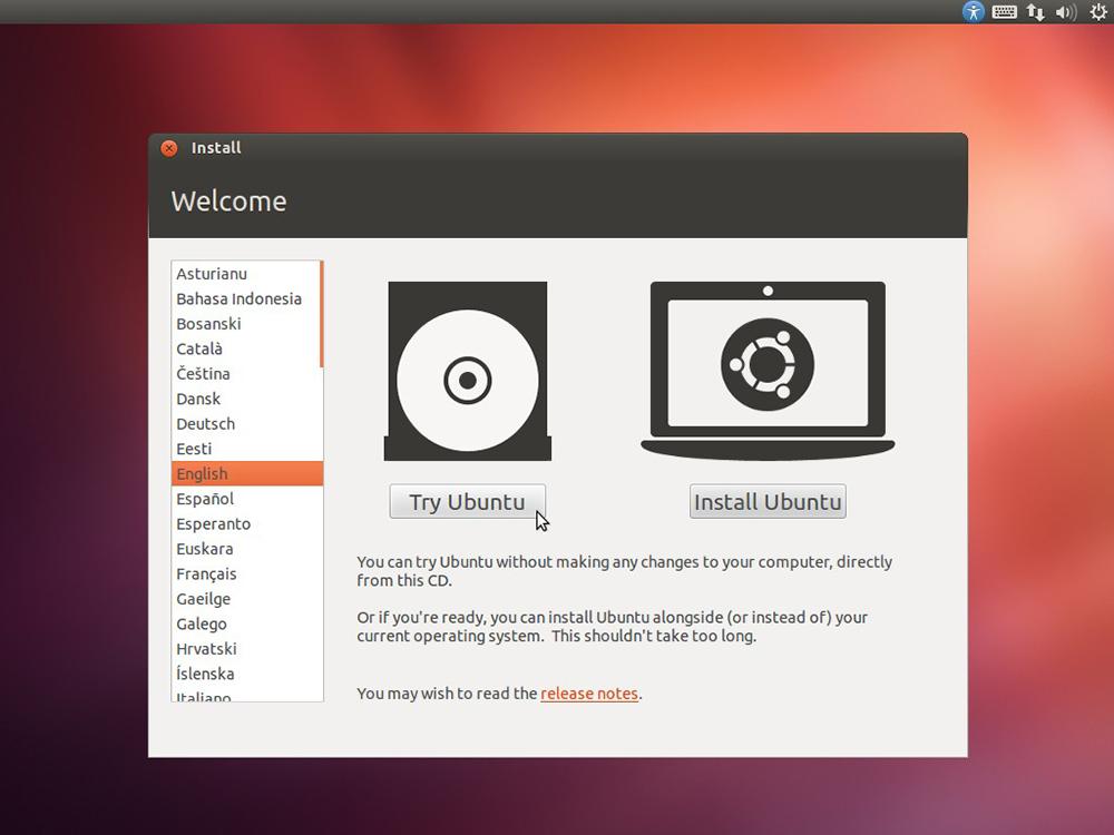 запуск Linux в режиме Live CD