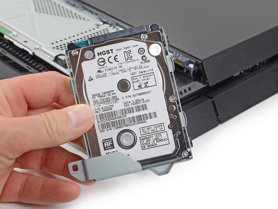 Пример HDD для консоли