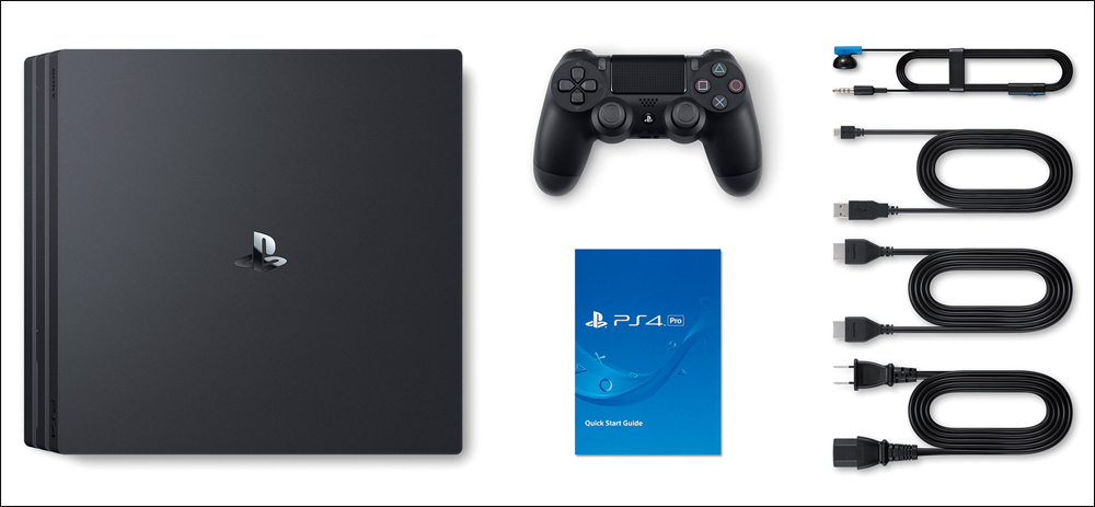 Комплектация Sony PlayStation 4 Pro 1Tb Black