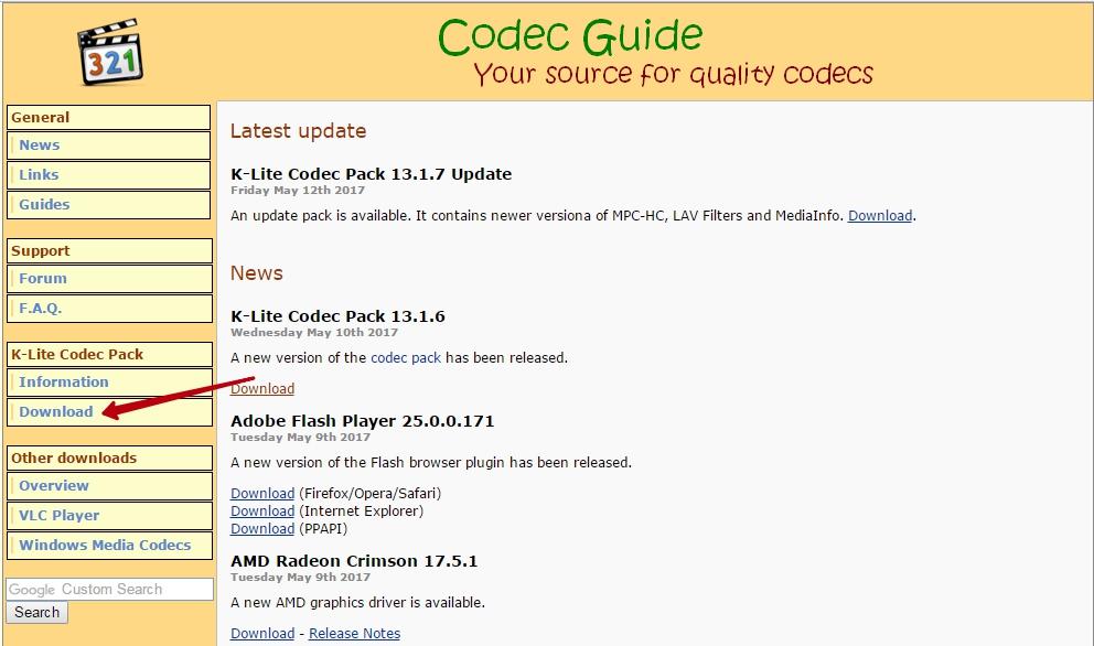 Скачать K-Lite Codec Pack
