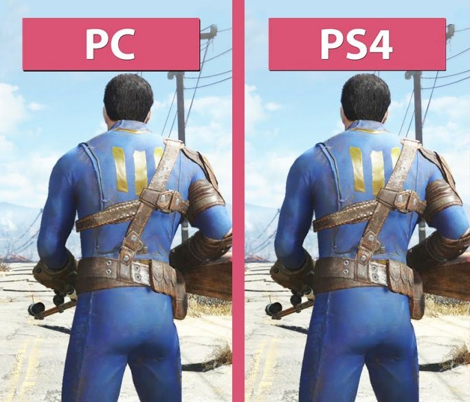 Сравнение графики PS4 и PC