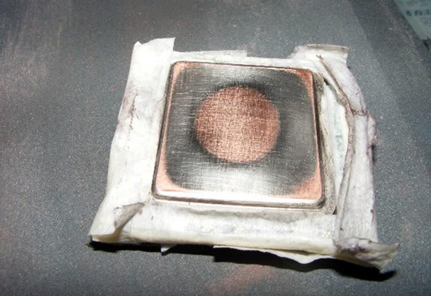 Шлифовка крышки процессора