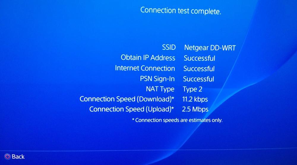 Тест Интернет соединения на PS4