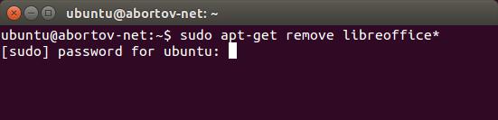 Установка LibreOficce через терминал в Ubuntu
